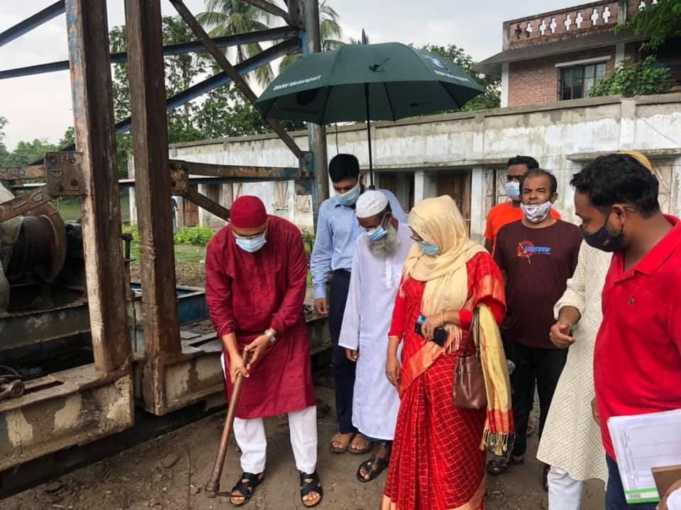 শ্যামনগরে মডেল মসজিদ নির্মাণ কাজের উদ্বোধন