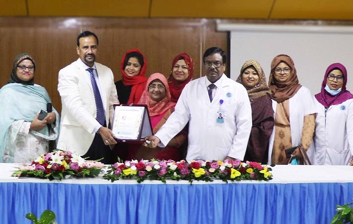 বিআরবি হাসপাতালের পক্ষ হতে অধ্যাপক ডা. গুলশান আরা বেগম-কে সম্মাননা প্রদান