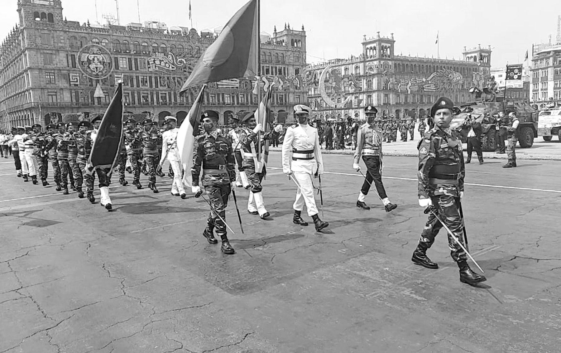 মেক্সিকোর স্বাধীনতা দিবসের কুচকাওয়াজে বাংলাদেশ সশস্ত্র বাহিনীর অংশগ্রহণ